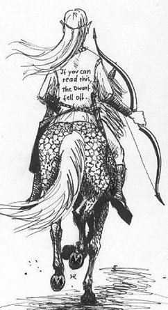 """""""Se você consegue ler isto, significa que o Anão caiu do cavalo"""""""