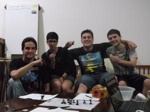 Toph (Chico), Tyr (Amanda), Butuitë (Vinicius) e Batatinha (Gonçalo)