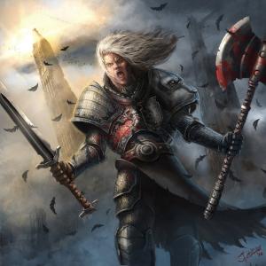 guerreiro humano irado