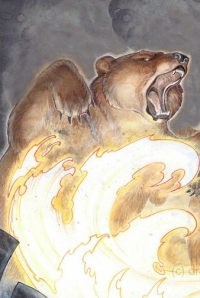 Bear in flames, adaptado