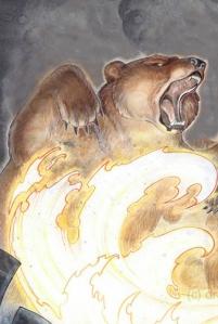 Bear in flames, adaptado